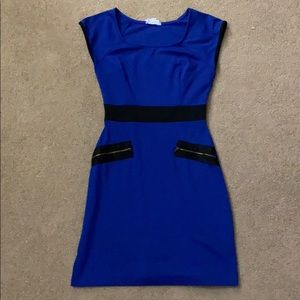 Juniors Blue and Black Dress